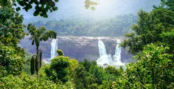 Athirappilly water falls, Thrissur district, Kerala state, India