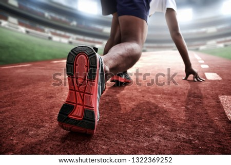 Athlete in starting position #1322369252