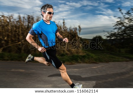athlete is jogging