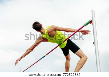 athlete jumper successful attempt athletics high jump