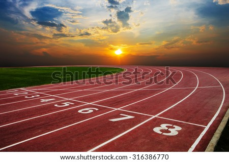 Athlete Track or Running Track with nice scenic