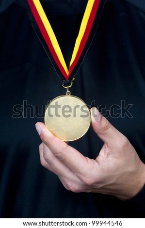 Athlete with a medal