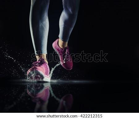 athletes foot close up. healthy ...