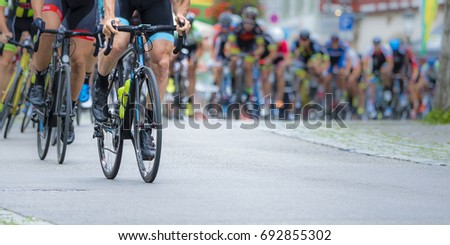 athletes in a cycling competition