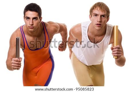 Athletes Racing Relay