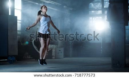 athletic beautiful woman...