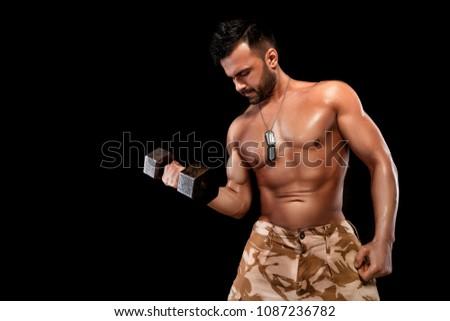 Naked men lifting weights — 15