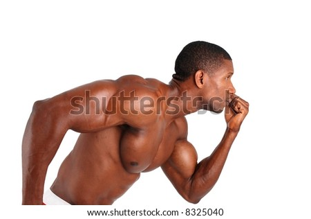 Athletic muscle model running