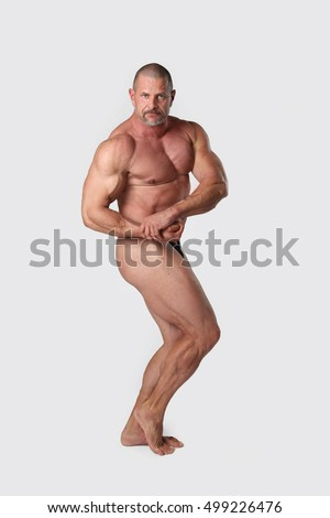 Strong naked man