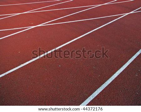 athletic track. athletic lane. running track. - stock photo