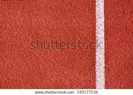 Athletics all weather running track texture