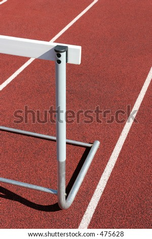 athletics - hurdle close up