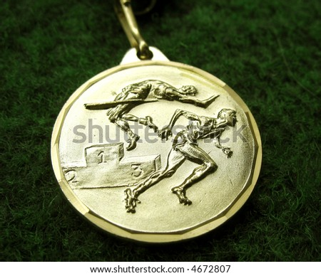 Athletics medal for a winner or champion - stock photo