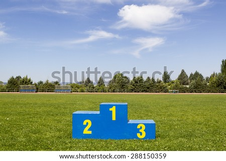 Athletics podium on grass #288150359