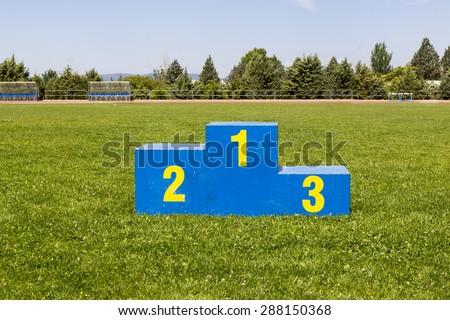 Athletics podium on grass #288150368