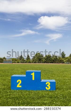 Athletics podium on grass #288150374