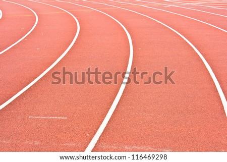 Athletics Stadium Running track rubber standard red color