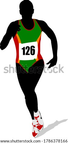 Athletics. The running people. Sport. Running. 3d illustration