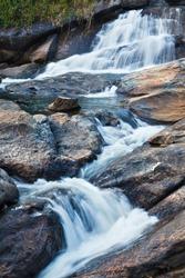 Athukadu Waterfall. Long exposure. Munnar, Kerala, India
