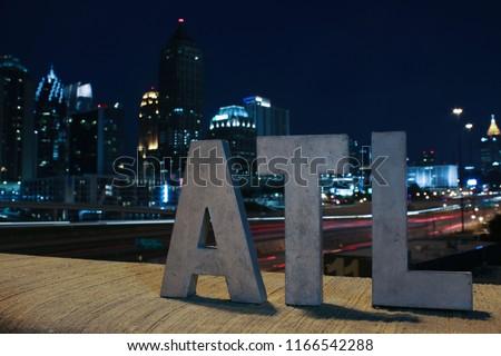 ATL sign at night