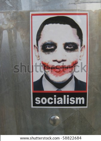 ATLANTA AUG 9 Controversial Socialist Joker Obama stickers can still be found in the streets of Atlanta on August 9 2010 one year after they began to appear in L.A and went viral.