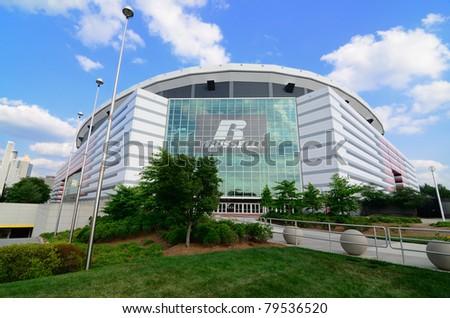 ATLANTA, GEORGIA - MAY 11: The Georgia Dome in Downtown Atlanta is home to the Atlanta Falcons May 10, 2011 in Atlanta, Georgia.