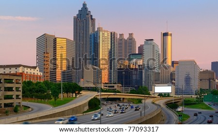 Atlanta, Georgia Skyline.