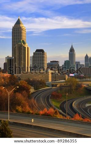 ATLANTA - NOVEMBER 19: Downtown on November 19, 2011 in Atlanta, GA. Atlanta has the nation's third highest concentration of Fortune 500 companies.