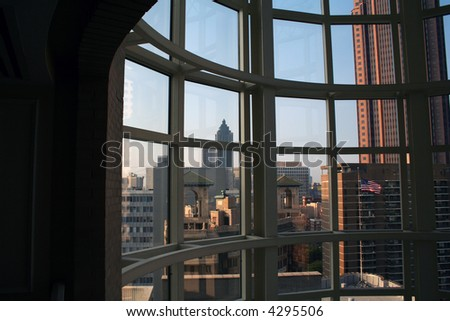 Atlanta through a Window