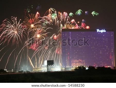 Atlantic city New Jersey- July 4th holiday celebration at the Borgata Hotel and Casino