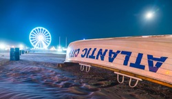 Atlantic city,new jersey,usa. 09-04-17: Atlantic City Boardwalk at night.