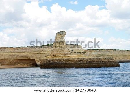 Atlantic coast in Portugal / steep coast