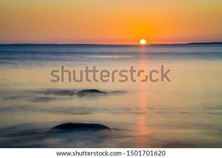 Atlantic coast seascape along the ocean