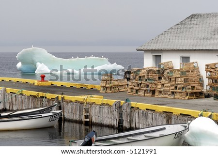 Atlantic Iceberg Scene - stock photo