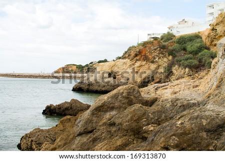 Atlantic ocean and cliffs in Portugal / Cliffs
