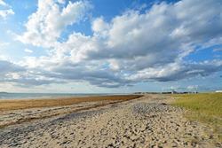 Atlantic Ocean beach in a beatiful sunny day. Brittany, France