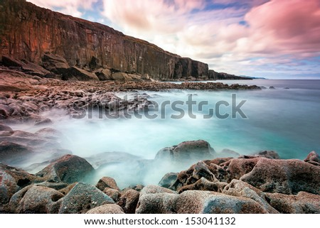 Atlantic ocean coastline in Ireland