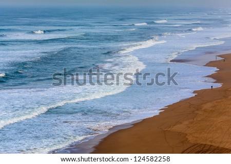 Atlantic ocean during the winter