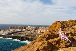 Atlantic ocean wild coast, Tenerife, Canary islands, Spain