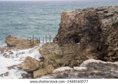 Atlantic shoreline in Barbados North of the island
