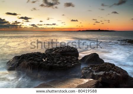 Atlantic sunset over Crab Island - Ireland