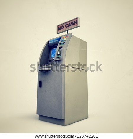 atm isolated on white background