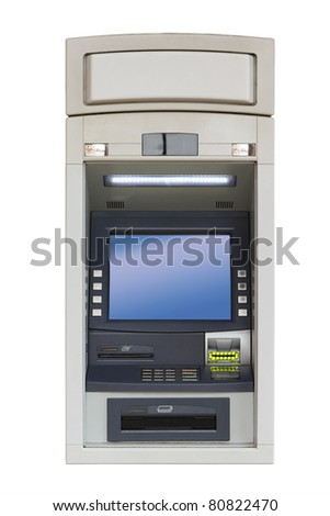 ATM isolated with clipping path