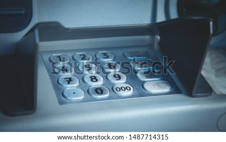 ATM machine with keypad and buttons. #1487714315