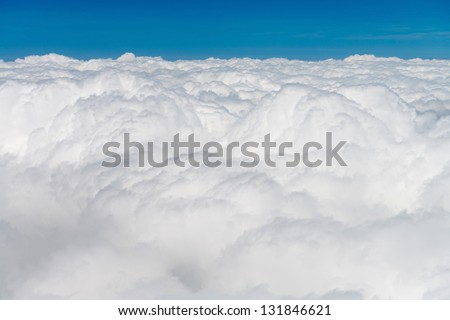 Atmosphere - blue sky and white clouds background