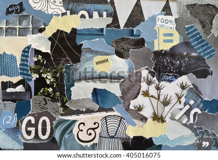 de0383cbb6b Royalty-free Creative Atmosphere art mood board…  557991532 Stock ...