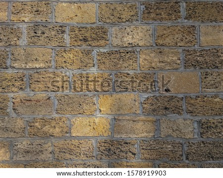 atmospheric background texture of an old brick wall #1578919903