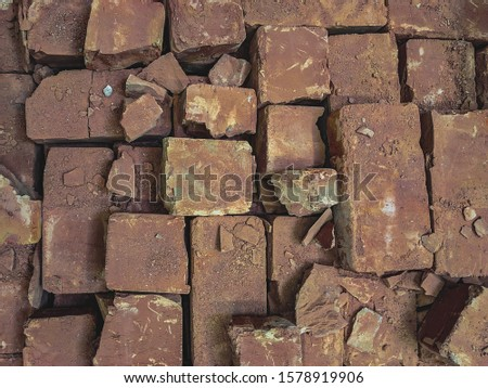 atmospheric background texture of an old brick wall #1578919906