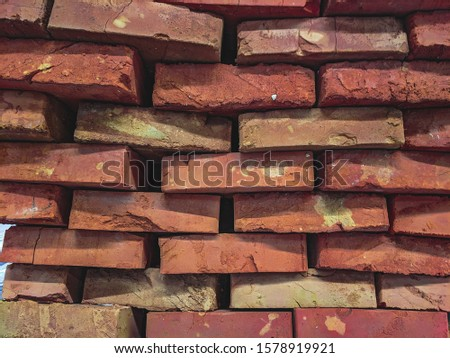 atmospheric background texture of an old brick wall #1578919921