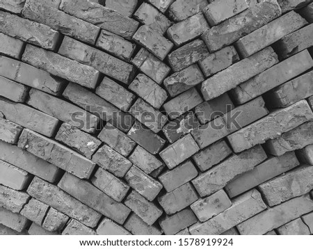 atmospheric background texture of an old brick wall #1578919924